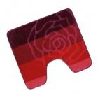 Koupelnová předložka wc 60x50 cm., Bolzáno červené
